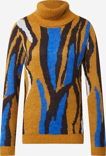 ICHI Pullover  'Marys' in blau / goldgelb / schwarz, Produktansicht