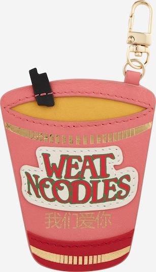 WEAT WE EAT AVOCADO TOAST Sleutelhanger in de kleur Donkergeel / Rosa / Rood / Wit, Productweergave