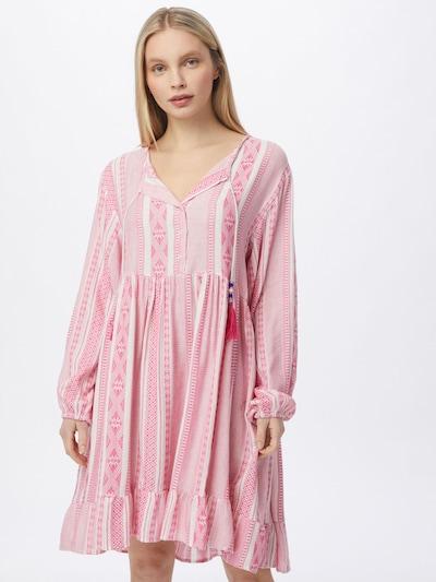 Zwillingsherz Kleid 'Nala' in pink / weiß, Modelansicht