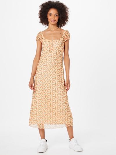 Motel Kleid 'Windy' in grün / orange / apricot, Modelansicht