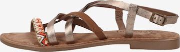 LAZAMANI Sandale in Braun