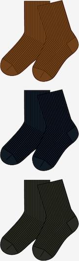 Kojinės iš NAME IT , spalva - tamsiai mėlyna / ruda / žalia, Prekių apžvalga
