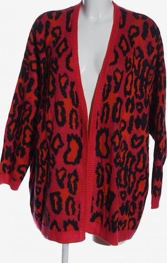FRAPP Strick Cardigan in 6XL in rot / schwarz, Produktansicht