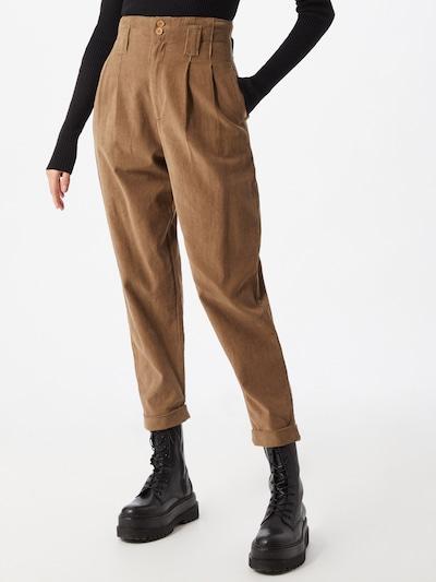 bézs Bizance Paris Élére vasalt nadrágok 'Coral', Modell nézet