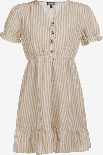 Rochie de vară DreiMaster Vintage pe nisip / alb, Vizualizare produs