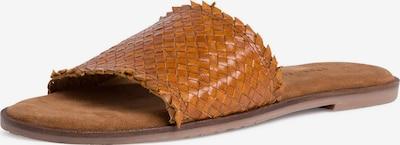 TAMARIS Pantolette in cognac: Frontalansicht
