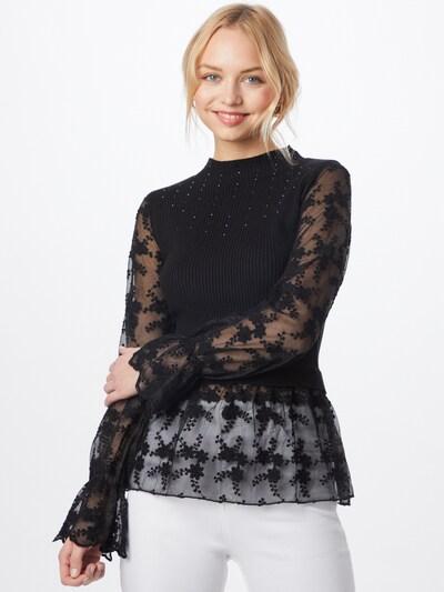 River Island Blouse 'Lace' in de kleur Zwart, Modelweergave