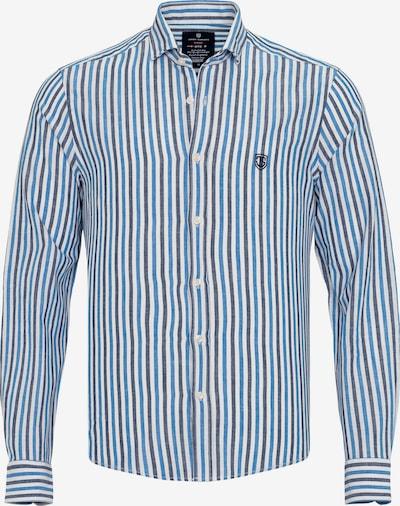 Jimmy Sanders Hemd in blau / dunkelblau / weiß, Produktansicht
