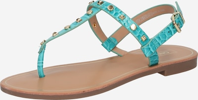 ONLY Sandale 'MELLY' in türkis / gold, Produktansicht