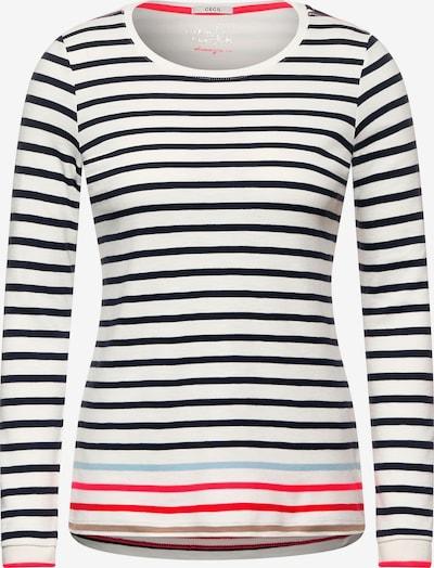 CECIL T-shirt en bleu clair / rose / rouge feu / noir / blanc, Vue avec produit