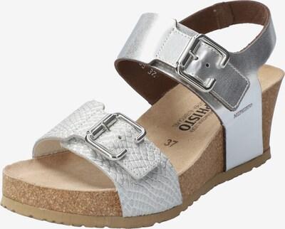 MEPHISTO Keilsandalette 'Lissandra' in beige / silber, Produktansicht