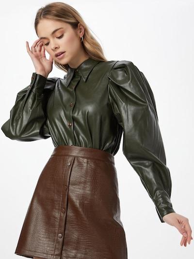 Designers Remix Bluse 'Marie' in dunkelgrün, Modelansicht