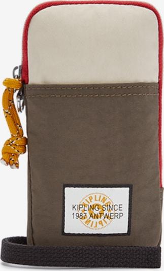KIPLING Smartphonehülle 'CLARK' in creme / mokka / feuerrot / schwarz, Produktansicht