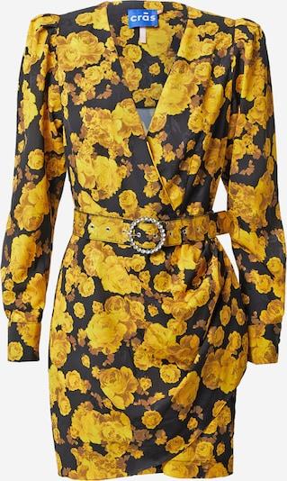 Crās Jurk 'Serena' in de kleur Geel / Zwart, Productweergave