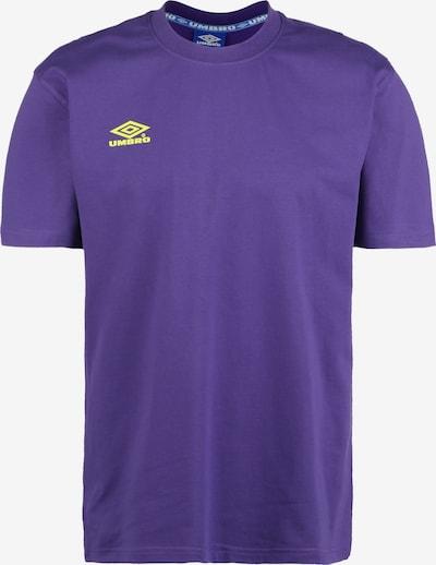 UMBRO T-Shirt in neongelb / dunkellila, Produktansicht