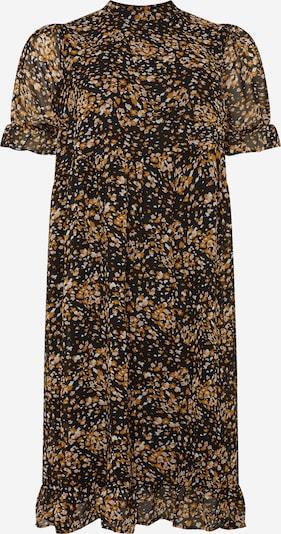 Selected Femme Curve Jurk 'Lina' in de kleur Geel / Zwart, Productweergave