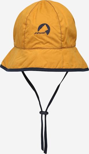 FINKID Шапка с периферия 'RANTA' в нейви синьо / златистожълто, Преглед на продукта