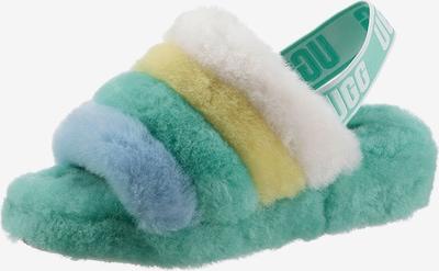 UGG Sandale in blau / gelb / grün / weiß, Produktansicht