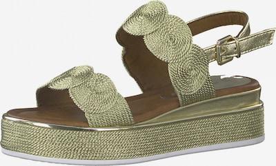 MARCO TOZZI Sandale in gold, Produktansicht