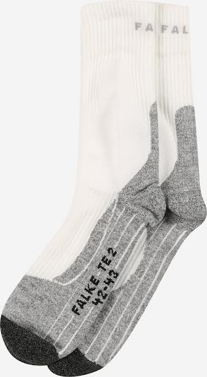 FALKE Chaussettes de sport en gris chiné / noir / blanc, Vue avec produit