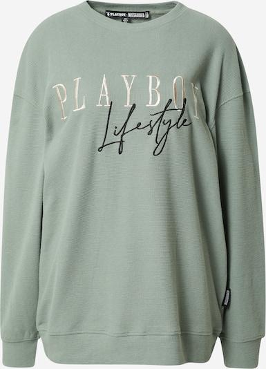 Missguided Sweatshirt 'PLAYBOY LIFESTYLE' in gold / mint / schwarz, Produktansicht