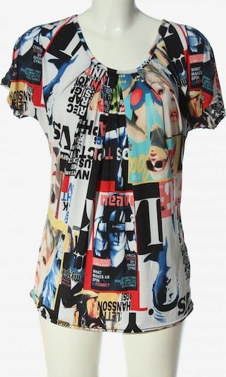 JOACHIM BOSSE Kurzarm-Bluse in M in pastellgelb / schwarz / weiß, Produktansicht