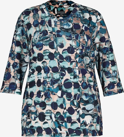 Ulla Popken Shirt in de kleur Navy / Turquoise / Bruin / Petrol / Pasteloranje, Productweergave