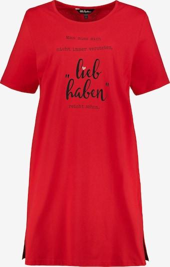 Ulla Popken Longshirt '727984' in rot / schwarz, Produktansicht