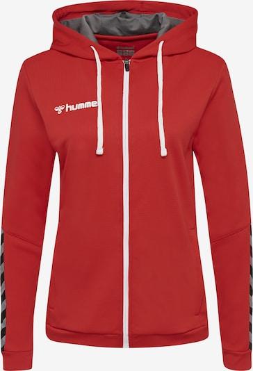 Hummel Sportief sweatvest in de kleur Rood, Productweergave