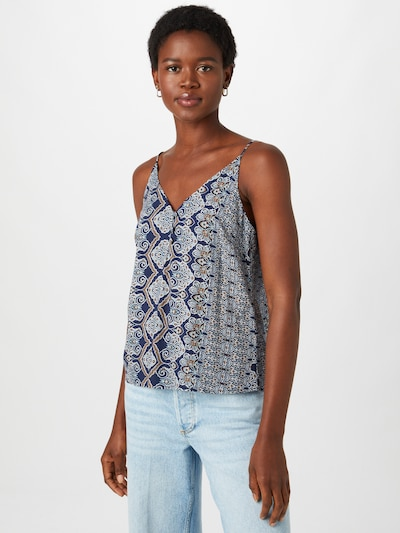 Palaidinė 'ROBERTA' iš ONLY, spalva – tamsiai mėlyna / šviesiai mėlyna / ruda / balta, Modelio vaizdas