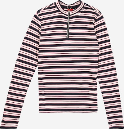 s.Oliver Junior T-Shirt en marine / rose / lie de vin / blanc, Vue avec produit