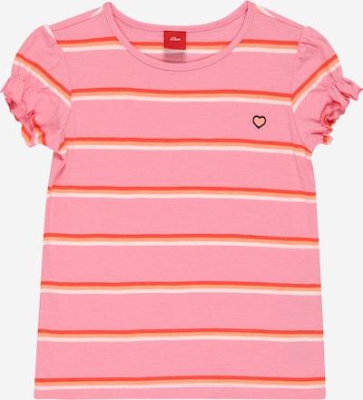 s.Oliver Тениска в розово / червено / бяло, Преглед на продукта