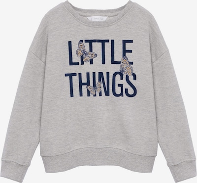 MANGO KIDS Sweatshirt 'DUBLINI' in navy / pastellgelb / graumeliert, Produktansicht