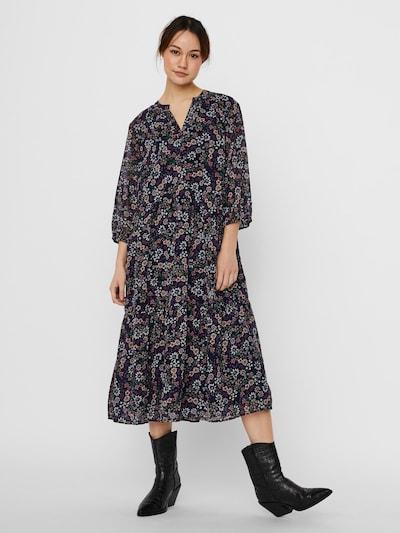 Vero Moda Curve Kleid in nachtblau / puder / weiß, Modelansicht