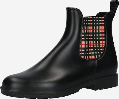 Ghete chelsea Dockers by Gerli pe maro deschis / roșu / negru / alb, Vizualizare produs