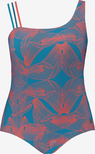 Ulla Popken Badeanzug in himmelblau / koralle, Produktansicht
