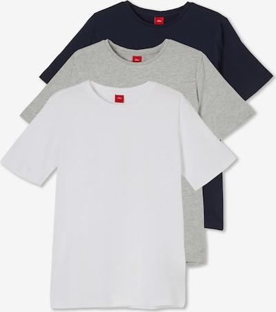 s.Oliver T-Shirts in blau / weiß, Produktansicht