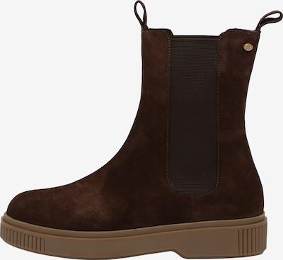 Fred de la BretoniÈre Ankle Boots aus Veloursleder in dunkelbraun, Produktansicht