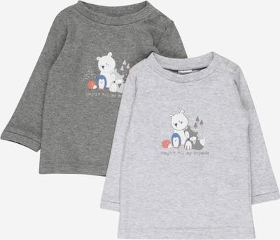 JACKY T-Shirt en gris / blanc, Vue avec produit