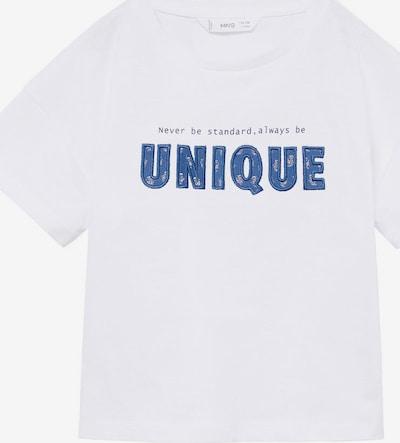 MANGO KIDS Majica 'UNIQUE' u plava / bijela, Pregled proizvoda
