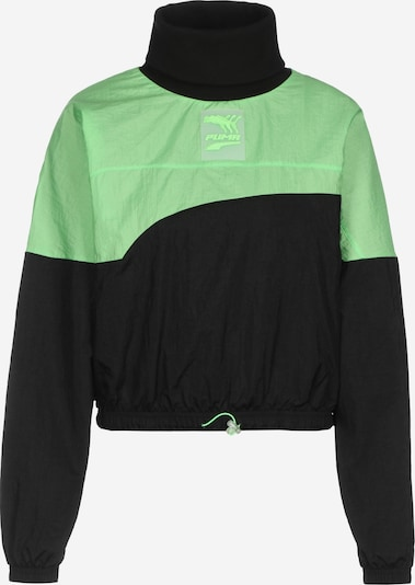 PUMA Sports sweatshirt in neon green / black, Item view