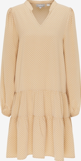 Usha Blusenkleid in beige / weiß, Produktansicht