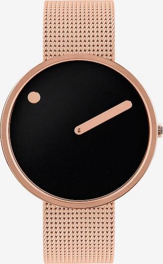 Picto Uhr in gold / schwarz, Produktansicht