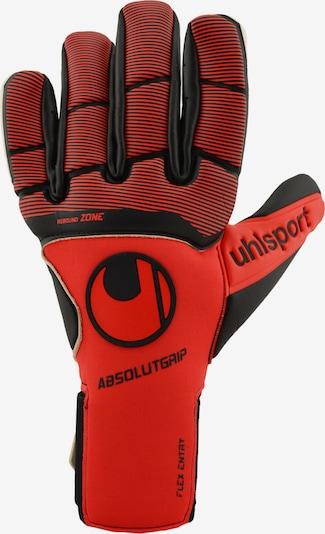 UHLSPORT Handschuh in creme / rot / schwarz, Produktansicht