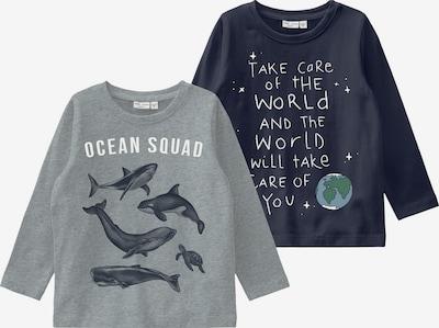 NAME IT Majica u tamno plava / siva melange / bijela, Pregled proizvoda