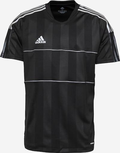 ADIDAS PERFORMANCE Funktionsshirt 'Tiro' in schwarz / weiß, Produktansicht