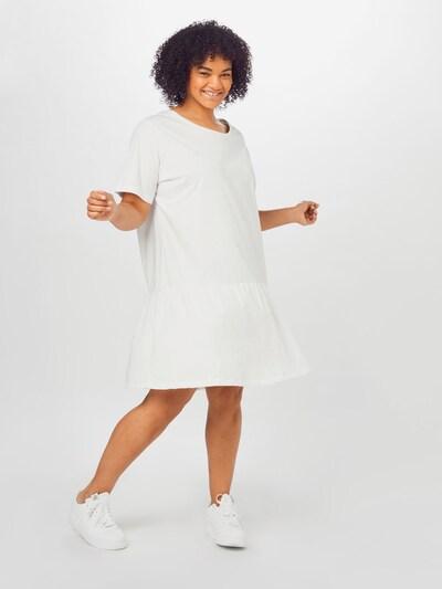 Urban Classics Curvy Kleid in weiß, Modelansicht