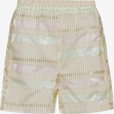 Nike Sportswear Shorts in hellgrün / rosé / weiß, Produktansicht