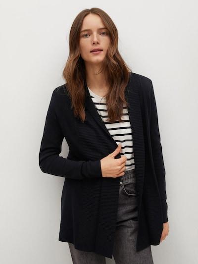 MANGO Strickjacke 'ALMA' in schwarz, Modelansicht