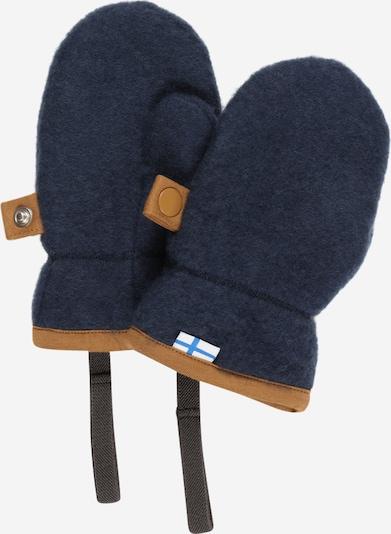 FINKID Handschuhe 'NUPUJUSSI' in navy / braun, Produktansicht